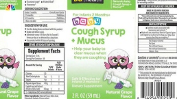 Kingston Pharma Recalls Naturals Baby Cough Syrup