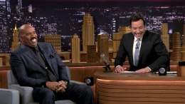 Steve Harvey Rips Fallon for Polar Plunge