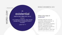 'Existential' Is Dictionary.com's Word of the Year