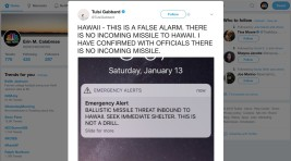 Hawaii Says No Missile Threat After False Emergency Alert