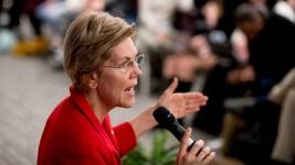 Warren Takes Swipe at Trump, Says She Is 'Optimistic'