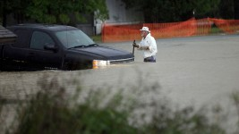 Officials Warn Residents to Stay Home During Floods