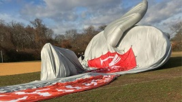 Blimp Slated for Macy's Parade Goes Down Behind Long Island School