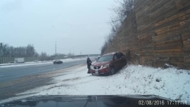 Video Captures Frightening Moment Car Hits Woman on Highway