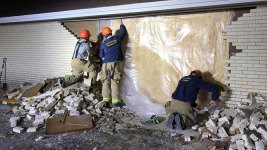 Firefighters Help Repair Church After Driver Crashes Into It