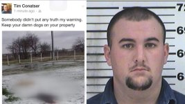 Texas Firefighter Arrested Over Dead Dogs Photo on Facebook