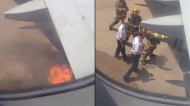 PHOTO: Spirit Airlines Flight Catches Fire at Dallas Airport