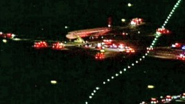 Evacuation Slide Falls From Jet Approaching Logan Airport