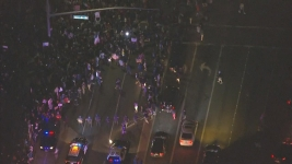 Protesters Spill Into California Street Outside Trump Rally