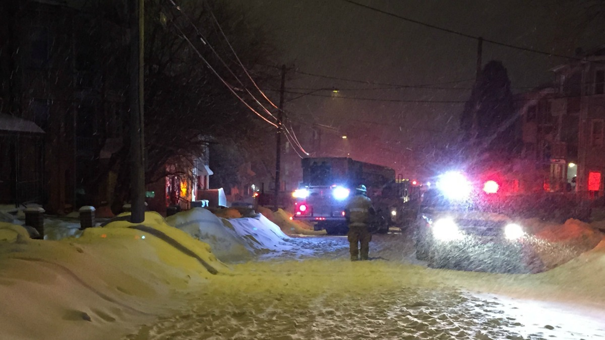 Residents are displaced after a fire broke out at a six-family home in New Britain early Monday morning.