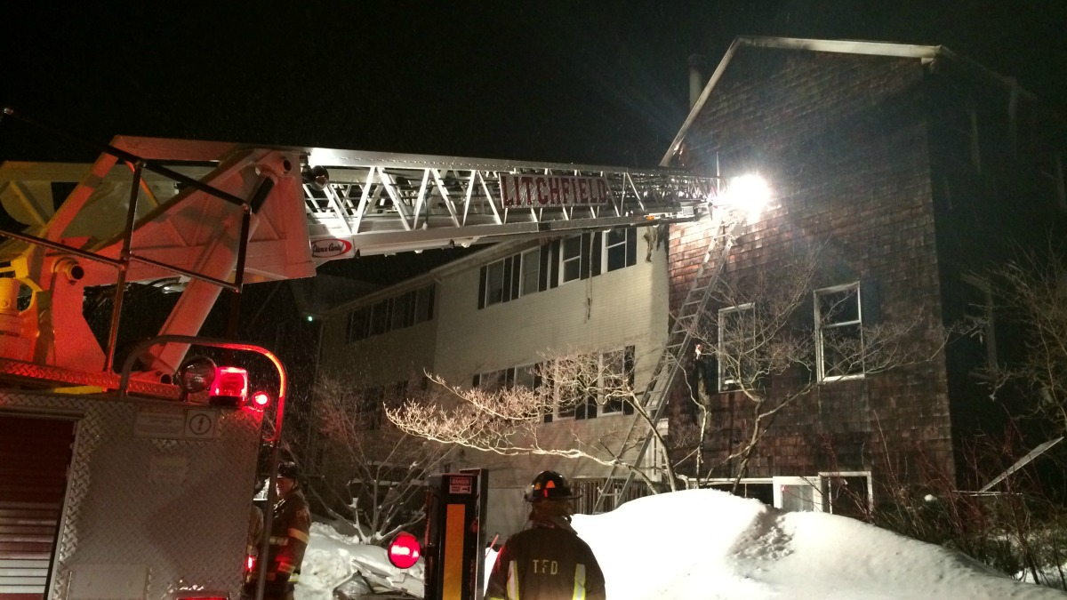 A fire broke out in Torrington on Monday morning, Feb. 9, 2015.