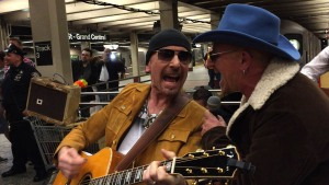 """U2 Plays in Subway Station on """"The Tonight Show"""""""