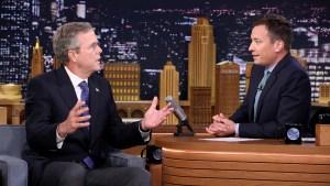 """""""Fireball"""": Jeb Bush Channels Pitbull on """"Tonight"""""""