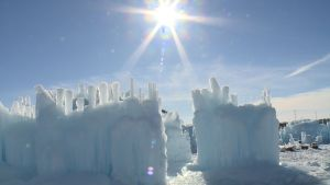 An Ice Castle Rises in Wisconsin