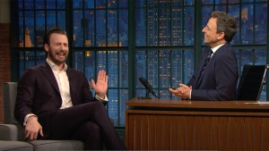'Late Night': Chris Evans Tells His Mom Everything