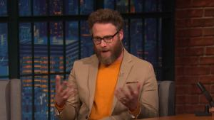 'Late Night': Seth Rogen's Golden Globes Wardrobe Malfunction