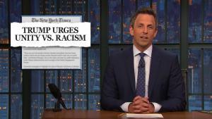 'Late Night': Seth Lambasts New York Times Trump Headline