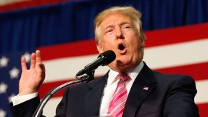 Donald Trump Holds Rally in New Hampshire