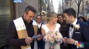 'Married on the Move': Couple Weds on NBC's 'Today'