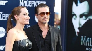 "Brad Pitt Talks ""Maleficent"" Red Carpet Prankster"