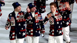 Team USA at the Sochi Olympics Opening Ceremony