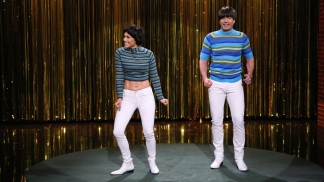"Fallon, Lopez Battle Over ""Tight Pants"""