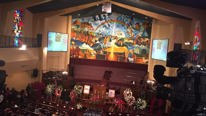 A funeral for Terry Carter was held Saturday, Feb. 7, at First AME Church in West Adams, LA.