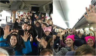By Plane, Train and Bus: Women Mass in DC for March