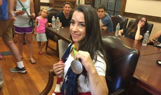 Mass. Town Holds Rally to Honor Olympian Aly Raisman