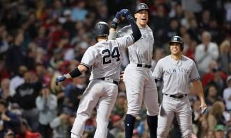 Sanchez, Judge Power Yankees Past Red Sox 6-2 to Even ALDS