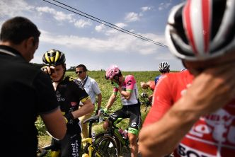 Tour de France Riders Sprayed With Tear Gas During Protests