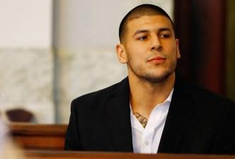 Aaron Hernandez in Court in 2012 Double Murder Case