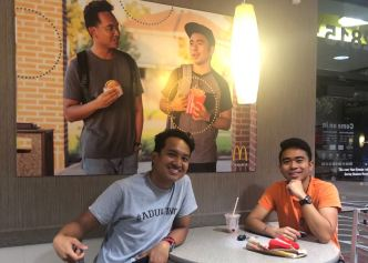 Friends Hang up Fake Poster at McDonald's in Texas
