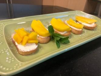 Crostini with Mango and Vanilla-Ginger Mascarpone