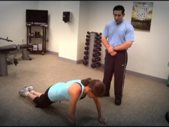 Fitness Minute: Modified Push Up