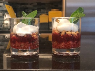 Roasted Rhubarb and Crispy Streusel Parfait