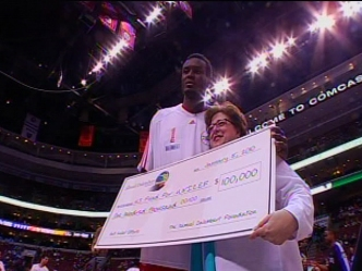 76er Gives to His Native Haiti
