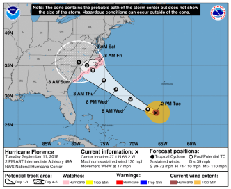 Track Ryan Hanrahan's Hurricane Hunter Flight to Florence