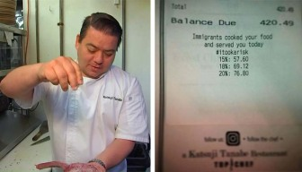 Calif. Chef's Restaurant Receipts Share Message on Immigration
