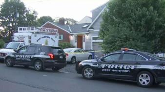 Police Tape Surrounds West Hartford Home