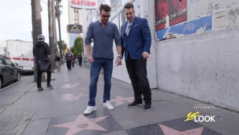 NSYNC's Joey Fatone Hits the Hollywood Walk of Fame with Johnny Bananas