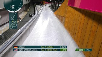 Elana Meyers Taylor Sled Races to Track Record in Run 3