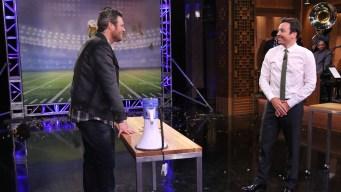 WATCH: Shelton Tosses Bean Dip, Talks 'Voice' Smack