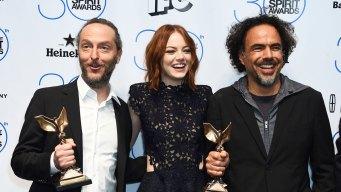 """""""Birdman,"""" Keaton, Moore Win at Spirit Awards"""