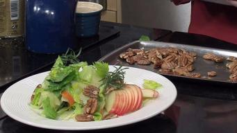 Salad of Connecticut Apples with Roasted Pecans and White Balsamic Vinaigrette