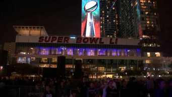 Thousands of Patriots Fans Party in Houston