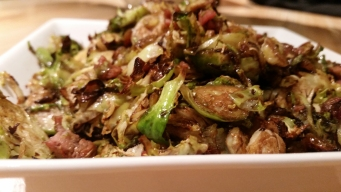 Brussels Sprouts, Prosciutto, and Raisins