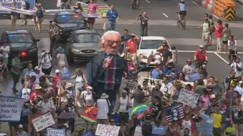Thousands Protest in Philadelphia on Eve of DNC