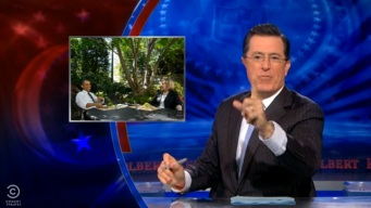 Colbert Offers Take on Obama-Clinton Lunch Meeting