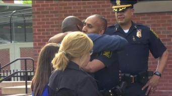 Community Hosts Vigil for Injured Hartford Police Officer